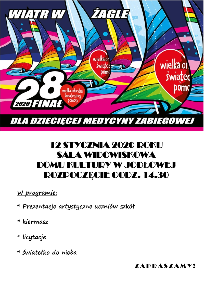 Plakat WOŚP 2020