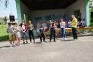 Spotkanie przy grillu uczniów trzecich klas gimnazjum z uczniami Zespołu Szkół w Jodłowej